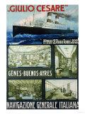 Navigazione Generale Italiana, circa 1910 Prints