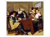 An Elegant Card Party Giclee Print by Dirck Hals