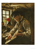A Shoemaker in Arildsleje, 1872 Giclee Print by Peder Severin Kr&#246;yer