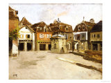 A Town Square Prints by Fritz Thaulow