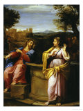 Christ and the Woman of Samaria at the Well Giclee Print by Francesco Albani