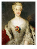 Portrait of Anna Friederike, Furtin Von Anhalt-Kothen, Half Length in a White Dress, circa 1738 Giclee Print by Antoine Pesne