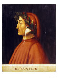 Portrait of Dante Giclee Print by Domenico Ghirlandaio
