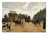 The Life Guards Passing Hyde Park Corner, London, circa 1886 Giclee Print by Felippo Baratti