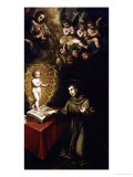 Saint Anthony of Padua and the Infant Christ Giclee Print by Vincente Carducho