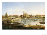 A View of Dresden Giclee Print by Karl Gottfried Traugott Faber