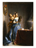 A Lady at Her Toilet Giclee Print by Jean Raoux