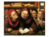 Suppliant Peasants in the Office of Two Tax Collectors Giclee Print by Quentin Metsys