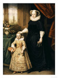 Mary, Queen of Scots (1542 - 1587), and Her Son James I (1566 - 1625) Giclee Print by Bernhard Lens