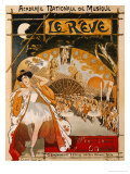 Le Reve, 1891 Giclee Print by Th&#233;ophile Alexandre Steinlen