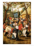 The Wedding Feast Lmina gicle por Pieter Bruegel the Elder