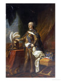 Portrait of King Louis XV of France and Navarre Reproduction procédé giclée par Charles Andre Van Loo