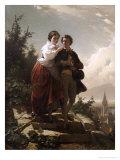 Hermann and Dorothea, 1872 Giclée-Druck von Arthur Georges Baron Von Ramberg