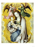 The Virgin and Child in Glory, with Two Angels Holding the Virgin's Crown Giclee Print