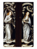 The Annunciation Reverse of Triptych Wings Giclee Print