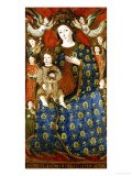 The Madonna and Child in Glory, Catalan School, Late 15th Century Giclee Print