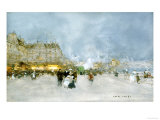 Evening Promenade Print by Luigi Loir
