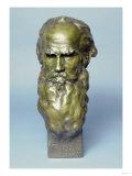 Bronze Head of Leo Tolstoy Giclee Print