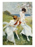 A Spring Day by the Seashore Posters by Rene Lelong