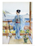Geisha Standing on a Balcony, 1893 Giclee Print by Anton Alois Stern