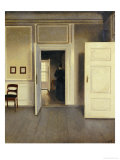 A Woman in an Interior, Strandgade 30, 1901 Art by Vilhelm Hammershoi