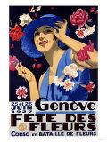 Geneve, Fete Des Fleurs, 1927 Giclee Print