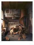 A Barber Surgeon Tending a Peasant's Foot, circa 1650 Giclee Print by Isaack Koedijck