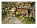 Friendly Gossips, 1889 Giclee Print by Fritz Thaulow