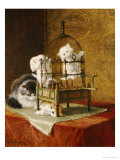 Caged Kittens Giclee Print by Henriette Ronner-Knip