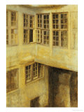 The Courtyard at 30 Strandgade Poster by Vilhelm Hammershoi