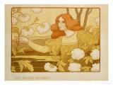 Les Boules de Neige, circa 1900 Gicléetryck av Paul Berthon