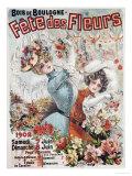Fete Des Fleurs, 1902 Poster by Louis Galice