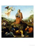 Die Todesangst im Garten Gethsemane (Radierung) Giclée-Druck von Perugino Pietro Vannucci