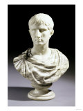 An Italian White and Breche Marble Bust of Julius Caesar, Second Half 19th Century Giclee Print