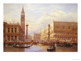 A View of the Piazzetta with the Doges Palace from the Bacino, Venice Poster by Salomon Corrodi