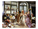 At the Milliner's Giclee Print by Alonzo Perez