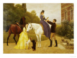 Home from Riding Giclee Print by Otto Bache