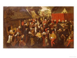 A Village Wedding Reproduction procédé giclée par Martin Van Cleve