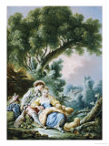 The Rest, Pensent-Ils a Ce Mouton Print by Francois Boucher