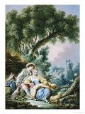 The Rest, Pensent-Ils a Ce Mouton Print by Francois Boucher
