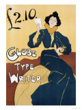 Globe Type Writer, 1899 Giclee Print by Edward Bella