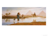 Overflow of the Nile, with the Pyramids Art by Frederick Goodall