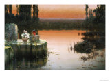 Flooded Ruins at Sunset Giclee Print by Enrique Serra
