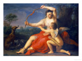 Diana Breaking Cupid's Bow, 1761 Gicle-tryk af Pompeo Batoni