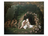 Titania Sleeping Print by Richard Dadd