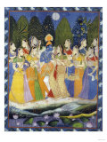 A Pichhavai of Krishna as Shrinthji, India, 19th Century Giclee Print