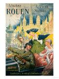 Visitez Rouen, circa 1910 Art by P. Bonnet