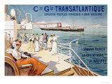 Cie. Gle. Transatlantique, circa 1910 Giclee Print by Louis Lessieux