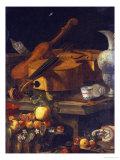 A Violin, a Cello, a Bow, a Sheet Giclée-tryk af Christoforo Munari