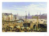 A View of Copenhagen Towards the Stock Exchange from Gammel Strand Giclee Print by Martinus Rorbye